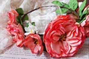 Віночок ободок квітковий садові троянди - Опис