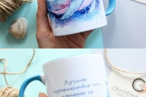 Чашка з китом - Опис
