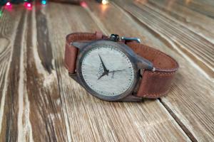 Годинник з дерева, чоловічий, грецький горіх, 07I4035WW - Опис