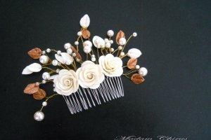 Вечірній гребінь для зачіски з трояндами - Опис