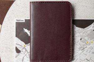 Обкладинка для паспорта (марсала) - Опис