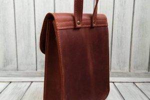 Жіноча шкіряна сумка. - Опис