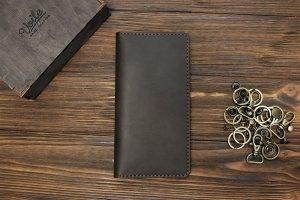 Мужское кожаное портмоне ручной работы VOILE vl-lw1-brn - Описание