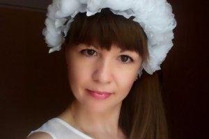 Шикарний весільний, випускний віночок, квіти з шифону