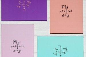 """Щоденник Diary """"My perfect day"""" [medium] — 4 кольора - ІНШІ РОБОТИ"""