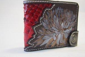 Шкіряний гаманець Астра зі змією - Опис