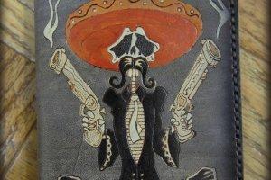 Кожаная обложка на паспорт El Bandito