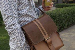 Элитная мужская кожаная сумка - Опис