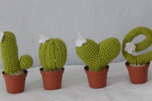 Оригінальний набір в'язаних кактусів - Опис