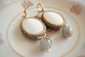 Сережки Сіре золото - Опис