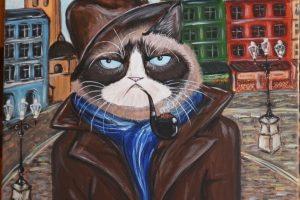 Картина   Похмурий  кіт у Львові