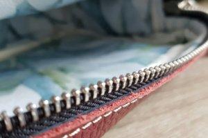 Жіноча сумка Nonny бордо + льон - Опис