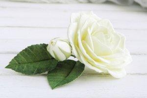 Шпилька з трояндою, Красива шпилька для волосся, Подарунок дівчині - Опис