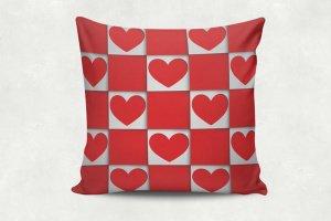 Текстильна подушка. Подарунок на день закоханих.