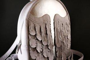 """Робота Шкіряний рюкзак """"White Wings"""""""