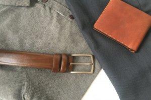 Елегантний ремінь під брюки із італійської шкіри - Опис