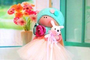 Робота Акция мая!Текстильная кукла Ella