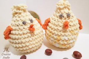 Курча-подушка іграшка з плюшевою пряжі - Опис