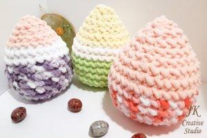 Великоднє яйце-подушка іграшка з плюшевою пряжі