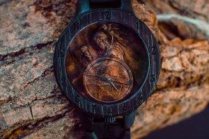 Lonely VIKING!!! Наручний дерев'яний годинник браслет  - ІНШІ РОБОТИ