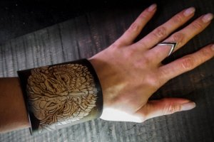 Шкіряний браслет Сова