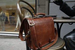Чоловік шкіряний портфель ручної роботи - Опис