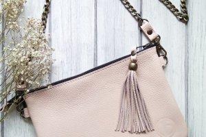 Маленька жіноча шкіряна сумочка. - Опис