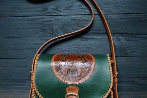 Робота Сумка з кельтськими деревами (зелена)