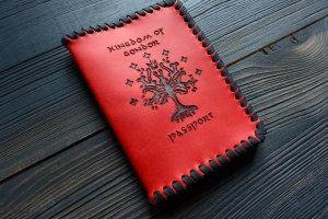 Робота Обкладинка на паспорт Kingdom of Gondor (червона)