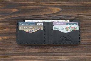 Чоловік шкіряний гаманець ручної роботи VOILE mw10-blk - Опис