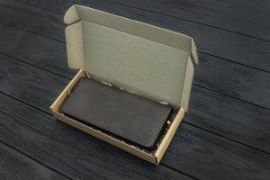 Портмоне (купюрник) зі шкіри ручної роботи VOILE lw5-brn - Опис