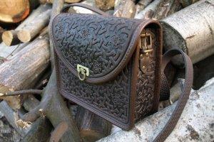 Робота сумка шкіряна Рокса коричнева