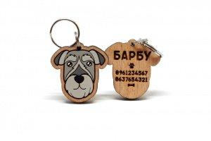 Дерев'яний адресник для собаки по фото  - Опис