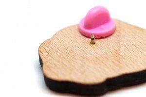 Дерев'яний значок із золотистим ретривером - Опис
