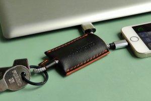 Робота Шкіряний брелок для ключів з USB кабелем