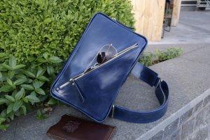 Робота Мужская синяя сумка-бананка L