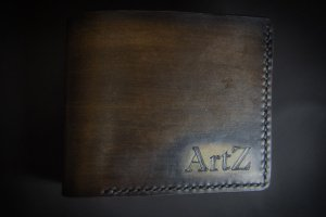 Кожаный кошелек именной (под заказ) - ІНШІ РОБОТИ