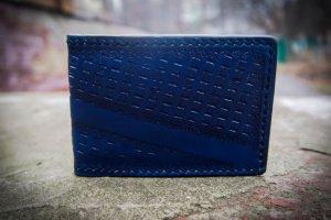 Робота Кожаная обложка на id паспорт Синяя