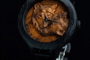 Робота WOLF Мерений дуб Наручний дерев'яний годинник наручные часы