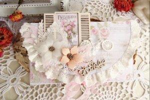 Свадебный конверт в пудрово-розовом цвете - ІНШІ РОБОТИ