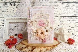 Робота Свадебная открытка в пудро-розовом цвете