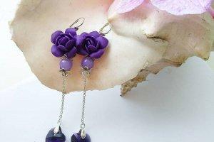 фіолетові сережки - Опис