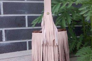 Робота Плетеная сумочка с тканевым чехлом на кулиске Д 13см
