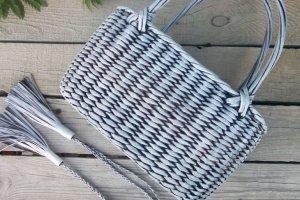 Робота Плетеная сумка- корзина 28*16см
