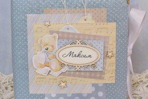 Детский фотоальбом для новорожденного мальчика My Boy - Опис