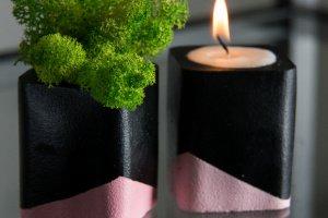 """Мох+свічка, """"Чорна пастель"""""""