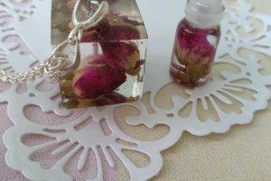 Кулон з трояндами Рожевий дует - Опис