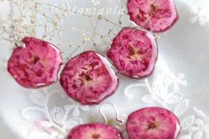 Малиновий  набір • Комплект из настоящих роз в смоле - Опис