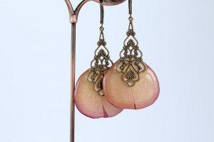 Вінтажні сережки з пелюсток троянди  •  Винтажные лепестки  - Опис