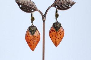 Сережки з пелюсток тигрової лілії • Серьги тигровые лилии - Опис